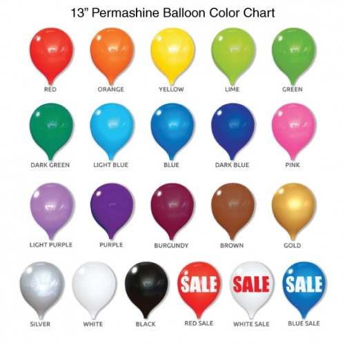 13 Inch Permashine Balloon