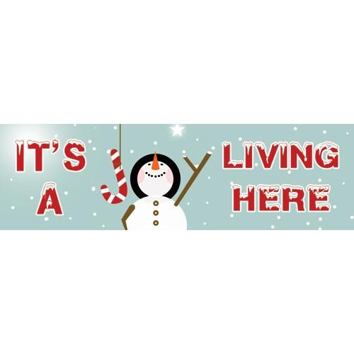 Snowman Joy Banner