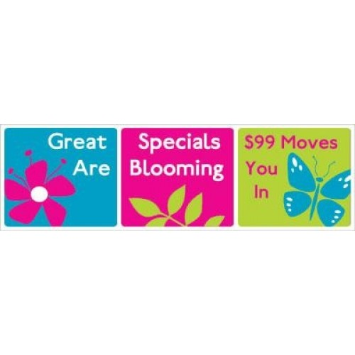 Great Blooming Banner Pink