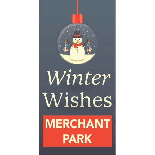Holiday Ornament Pole Banner