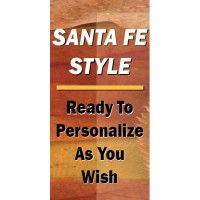 Santa Fe Street Light Pole Banner