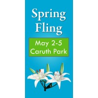 Spring Blooms Light Post Banner