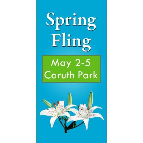 Spring Blooms Light Post Banner