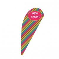 Flashy Stripe Tear Drop Flag