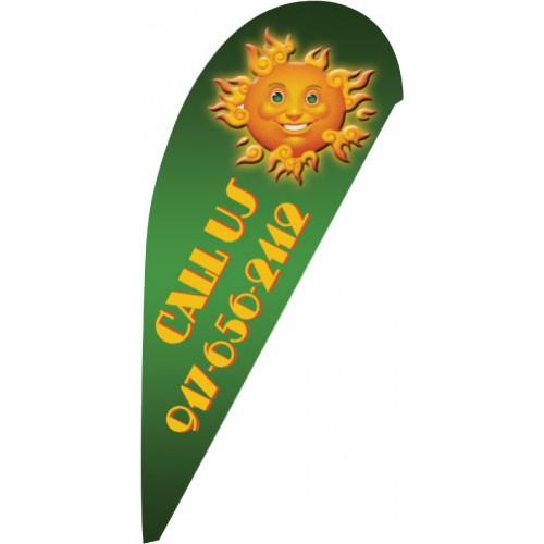 Sunny Tear Drop Flag