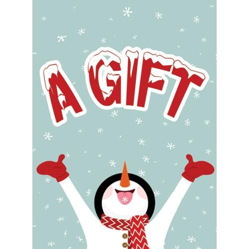 Snowman Joy Gift Sign