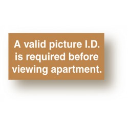 Valid Picture ID Sign