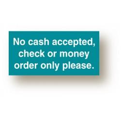 No Cash Sign