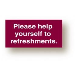 Refreshment Sign