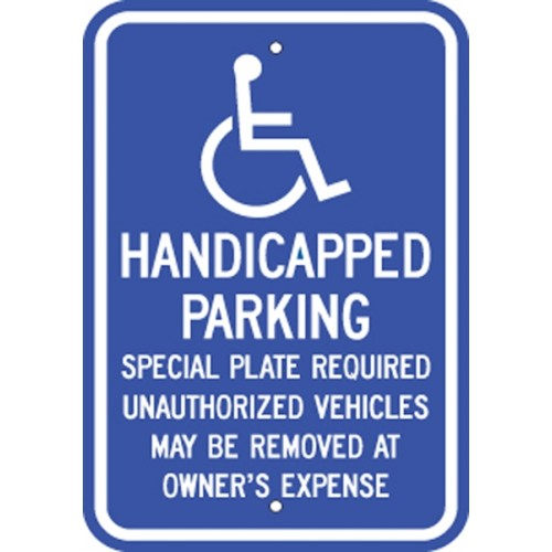 Massachusetts Handicap Sign