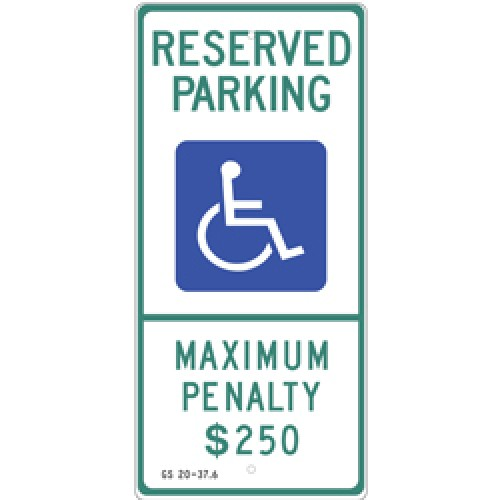 North Carolina Handicap Sign
