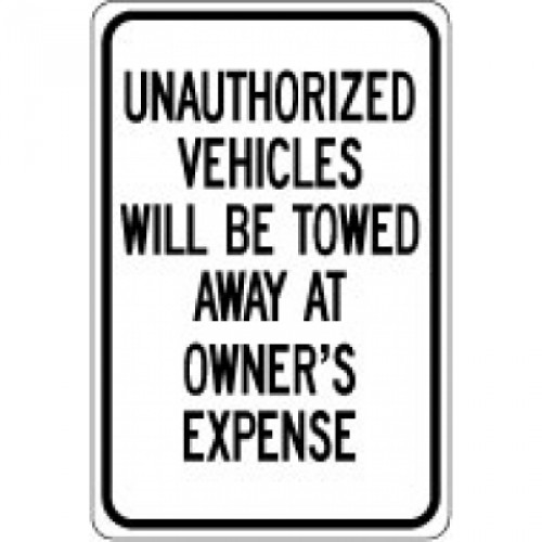 Unauthorized Vehicle Sign