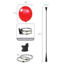 Balloon Bobber Single Light Pole Kit