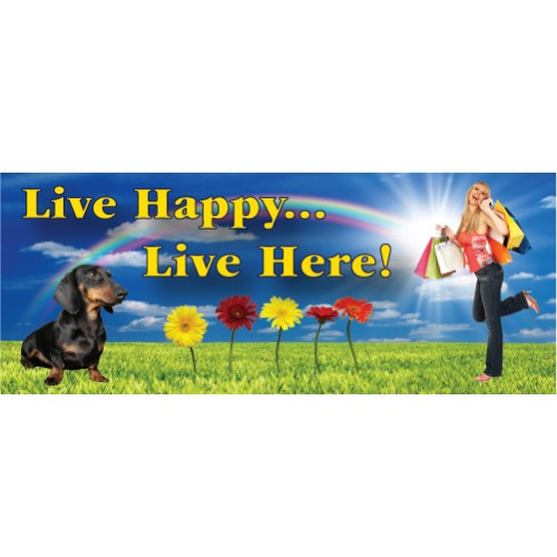 Live Happy Banner