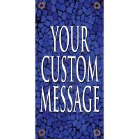 Tuscan Tile Sapphire Light Pole Banner