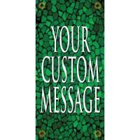 Tuscan Tile Emerald Light Pole Banner