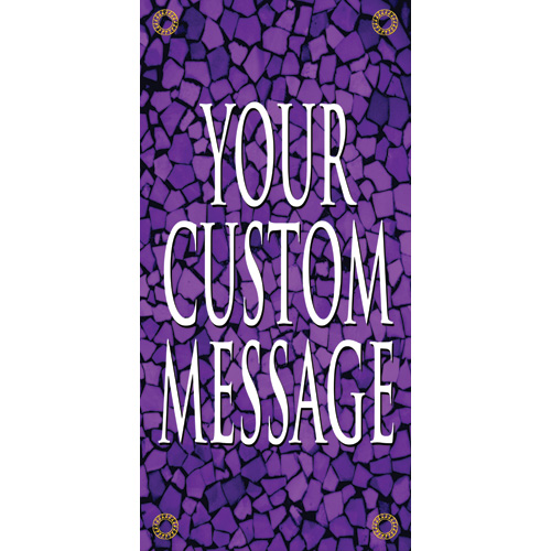 Tuscan Tile Amethyst Light Pole Banner