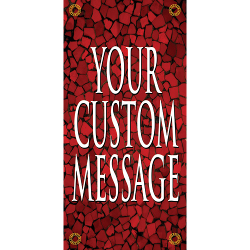 Tuscan Tile Ruby Light Pole Banner