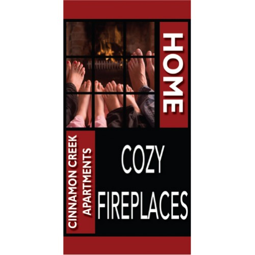 HomeLife Cozy Fireplace Banner