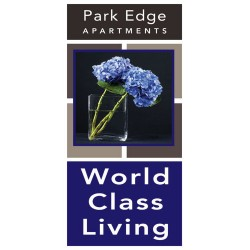 Exceptional Blue Light Pole Banner