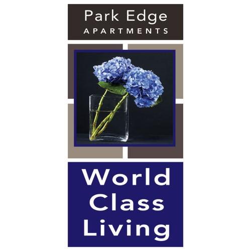 Exceptional Blue Light Pole Banner