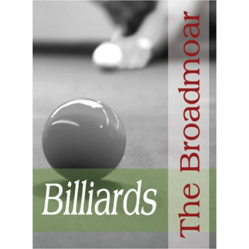 People Billiards Sign