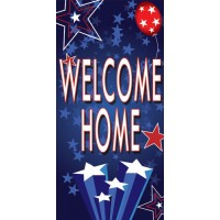 Spangles Blue Street Pole Banner