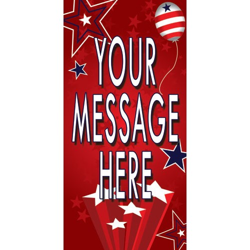 Spangles Red Street Pole Banner