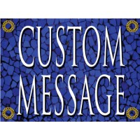 Tuscan Tile Sapphire Sign