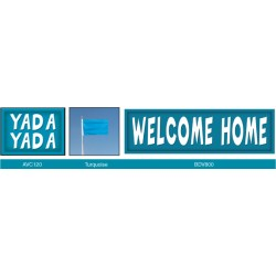 Vibrant Turquoise Banner