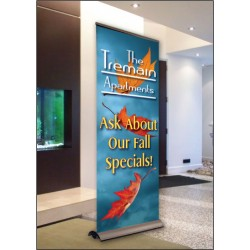 Flying Leaves Display Banner