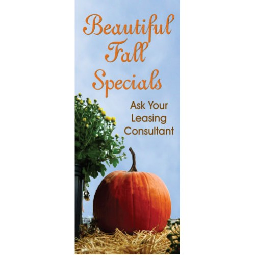 Fall Pumpkin Display Banner