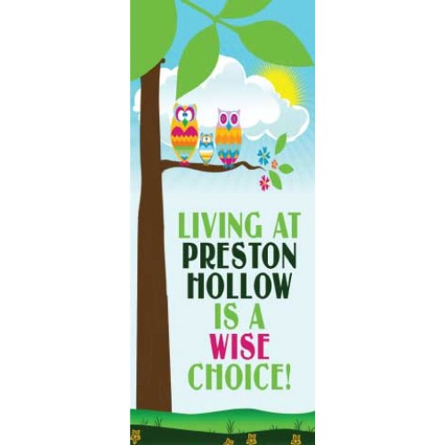 Wise Owl Display Banner