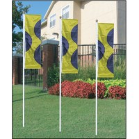 White Giant Flagpoles