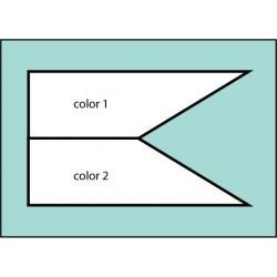 Two Color Castle Drivewaver Flag