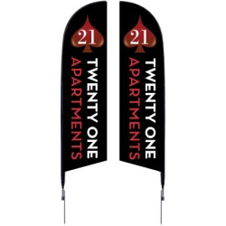 7 Ft. Falcon Flag Double Sided Kit