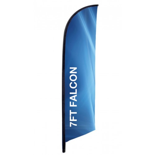7 Foot X Small Falcon Flag Single Sided