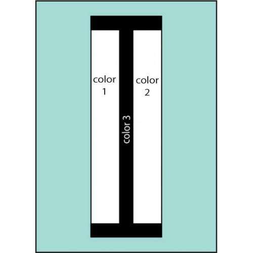 Three Color Stripe Drape Flag