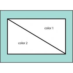 F104 Two Color Diagonal Flag