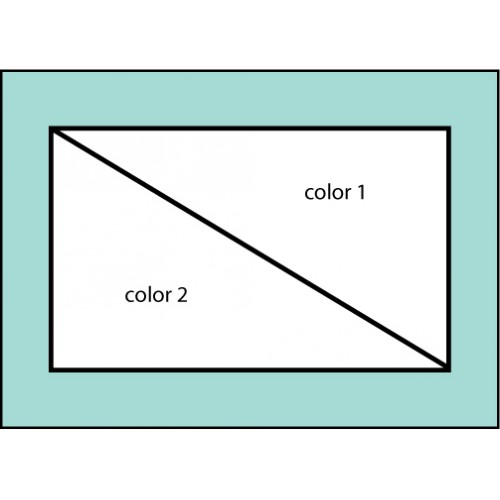 Two Color Diagonal Flag
