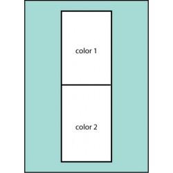 F108 Two Color Horizontal Drape Flag