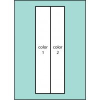 Two Color Vertical Ready Pole  Flag