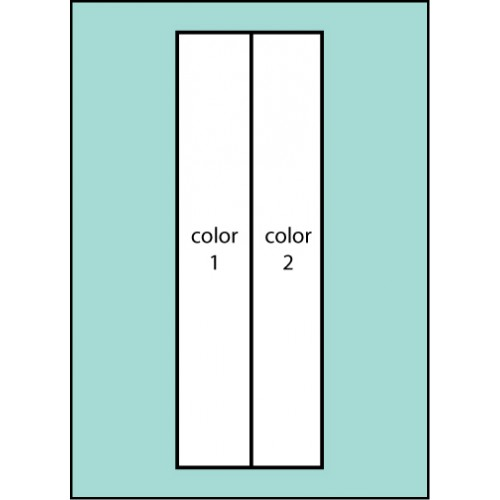 F109 Two Color Vertical Drape Flag