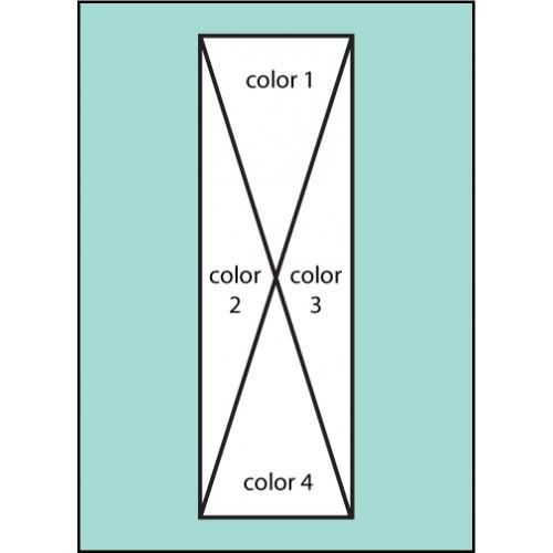 Four Color Pattern Drape Flag