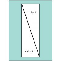 Two Color Diagonal Ready Pole  Flag