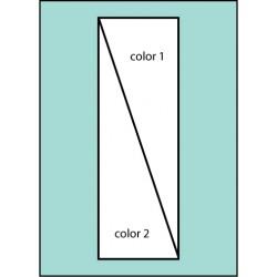 Two Color Diagonal Ready Pole  Flag
