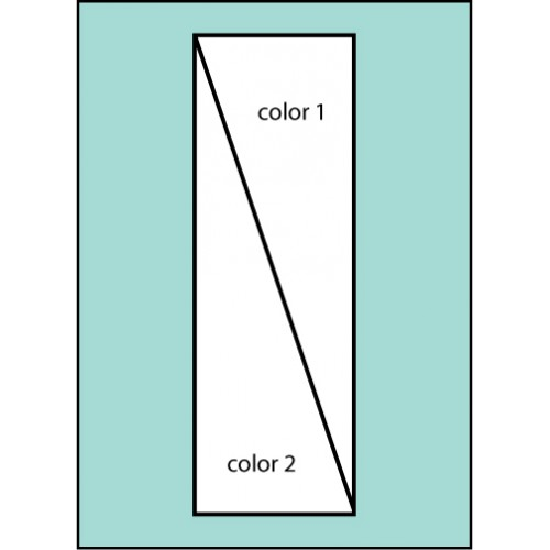 F112 Two Color Diagonal Drape Flag