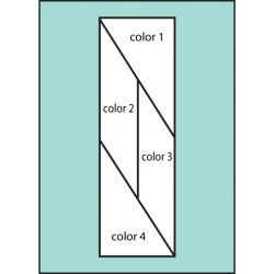 Four Color Slant Drape Flag