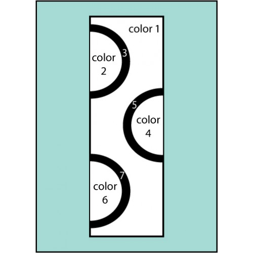 F119 Six Color Double Dot Drape Flag