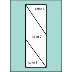 Three Color Double Diagonal Drape Flag